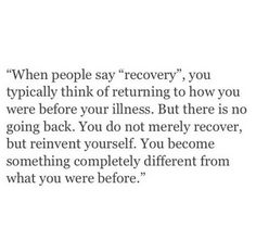 What recovery really is