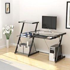 Z Line Nero Desk And Bookcase Guest Room Office Den Home