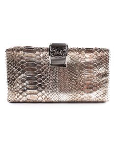 Chanel Python Skin Clutch.