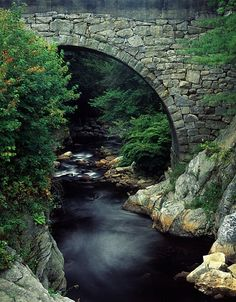 I fell in love with New Hampshire's stone bridges