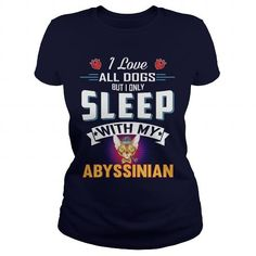 Abyssinian I Only Sleep With My Abyssinian Cat Panda Shirt, Penguin T Shirt, Funny Penguin, Pet Cows, Turtle Shirts, Best Friends For Life, Mens Fashion, Tees, Mens Tops