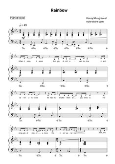 Kacey Musgraves - Rainbow sheet music for piano [PDF] Music Sheets, Piano Sheet Music, Kiana Lede, Alright Now, Hard Breathing, Printable Sheet Music, Kacey Musgraves, Piano Tutorial, Everything Will Be Alright