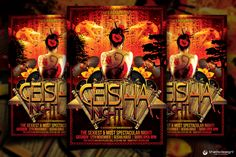 Geisha Party Flyer Template This Geisha Party Flyer Template was designed to promote an Japenese Electro, Dance, Minimal,House, Alternative http://thatsdesignstore.com/product/geisha-party-flyer-template/