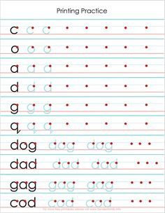 free printing practice sheets to help with letter reversals from