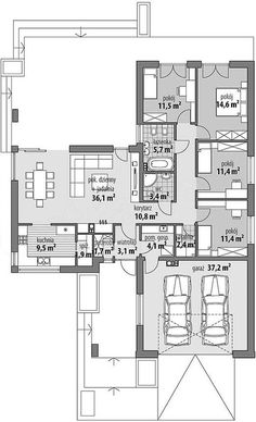 affordable modern home design 2bhk House Plan, Dream House Plans, House Floor Plans, Minimalist House Design, Modern House Design, Building Plans, Building A House, Florida House Plans, 4 Bedroom House Plans