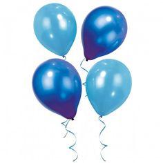 Set van 12 ballonnen in 2 verschillende kleuren blauw. Voor de finishing touch van uw feest hangt u de feestzaal vol met deze ballonnen!