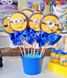 Doces para festa Minions Minions Birthday Theme, Minion Theme, Birthday Party At Home, Minion Party, Boy Birthday Parties, Birthday Party Decorations, 2nd Birthday, Pink Minion, Minion Classroom