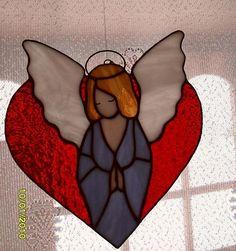 Angel on heart suncatcher