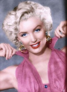 Colorized image of Marilyn