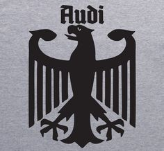 AUDI German Eagle vintage style T-Shirt by XBrosApparel ?... X Bros Apparel Vintage Motor T-shirts ...?. CLICK ON IMAGE.....? www.freewebstore.org/x-bros-apparel ? www.etsy.com/shop/xbrosapparel ? www.ebay.com/usr/xbrosapparel1 ?