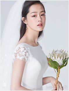 Korean Bride, Bridal Gowns, Wedding Dresses, Bride Makeup, Wedding Hair And Makeup, Bridal Beauty, Wedding Looks, Wedding Photoshoot, Bride Hairstyles