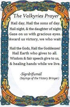 Valkyrie's Prayer
