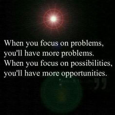 Focus wisely...