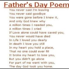 Father day poem