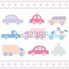 Baby car toys set