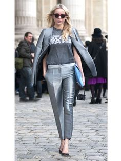 """Street Style at Paris Fashion Week S/S13 Love the t-shirt paired with an awesome grey suit."" Who cares about the suit I am all about that star wars shirt!!"