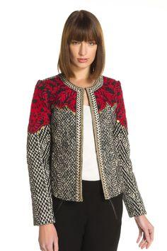 Jacket Cotton Jacket matelassé- Impurity Derhy, Color Ecru. See this picture