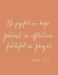 Romans 12:12...More at http://beliefpics.christianpost.com