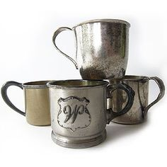Collection of Commemorative Tin Cups