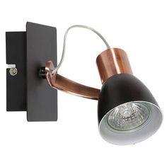 Kinkiet LAMPA ścienna MARKUS 91-35554 Candellux reflektorowa OPRAWA spot czarna