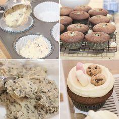 Milk & Chocolate Chip Cookie Cupcakes