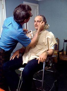 The Godfather: Behind the Scenes - Brando becoming Vito Corleone Marlon Brando, Charlie Chaplin, Great Films, Good Movies, Diane Keaton Films, Old Age Makeup, Don Corleone, Corleone Family, Godfather Movie