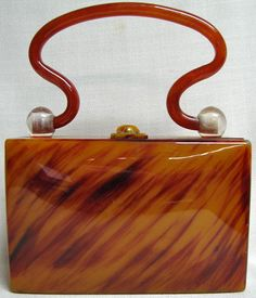Vintage Lucite Handbag. Great design!
