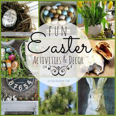 Easter Decor and Activities to celebrate the special season #diy