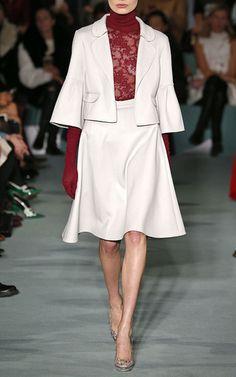 Double Face Wool A Line Skirt by OSCAR DE LA RENTA for Preorder on Moda Operandi