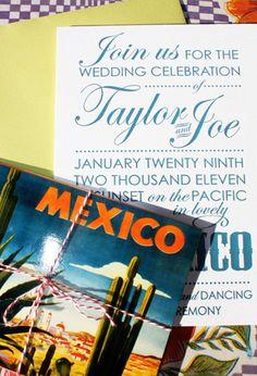 Mexico wedding invitation