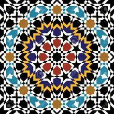 15565388-Traditional-Morocco-Pattern-Stock-Vector-pattern-islamic-arabic.jpg (1300×1300)