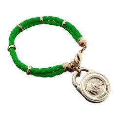 Michael Kors Braided Ring Logo Green Accessories Outlet