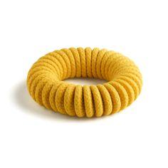 Coiled Bangle Yellow - Eleanor Bolton