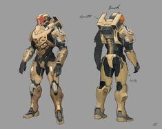 It's a personal work. It was drawn with the concept of Exosuit deployed in the Army. Robot Concept Art, Armor Concept, Weapon Concept Art, Futuristic Armour, Futuristic Art, Sci Fi Armor, Sci Fi Weapons, Character Concept, Character Art
