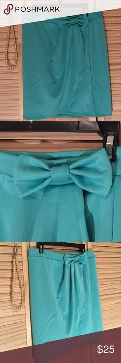 Baby blue /light aqua wrap around mini skirt L 17 inches in length 17 inches wide M 17inches in length 15 inches wide S 17 inches in length 15 inches wide Lycra  fabric a little bit stretchable elastic waist Isbel Skirts Mini