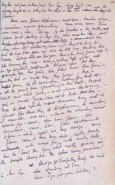 Virginia Woolf's manuscript of 'Mrs Dalloway' (1925). From the Persephone Books blog.