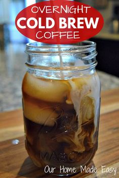 An easy way to perfect cold brew coffee without watering down coffee. Click for the recipe!