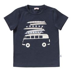 Il Gufo Surf Van T-Shirt Navy blue
