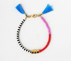 Friendship Bracelet Bracelet with Tassel Color by feltlikepaper