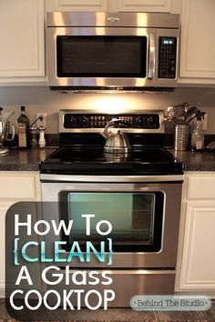 Cleaning Glass Cooktop with baking soda and water | http://bestphone.kira.lemoncoin.org