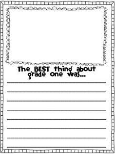 kindergarten writing templates
