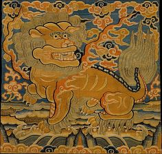 Rank Badge with Lion, 15th century. Ming dynasty (1368–1644). China. The Metropolitan Museum of Art, New York. Purchase, Mr. and Mrs. C. Y. Chen and Anonymous Gifts, 1988 (1988.154.2) #tapestrytuesday