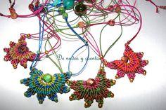 Macrame star necklaces by De nudos y cuentas - Ana María Pozo Reyes
