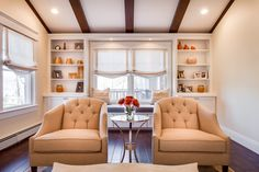 Living Rooms & Foyers - JENNIFER PACCA INTERIORS  #interiordesign #homedecor #design #decor #windowseat #wallofwindows #bookscase #romanshades #goals #architecture #inspiration #cozyseatingare #interiors #whitedecor #customhome #inspo #beforeandafter #interiordesigner #diy #cozy #rug #gorgeoushome #luxuryrealestate #rusticbeam #realestate #furniture #dreamhome #lifegoals