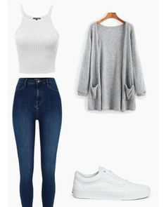 50 simple school outfits for women - Alles über Damenmode Simple Outfits For School, Casual School Outfits, Cute Lazy Outfits, Teenage Girl Outfits, Girls Fashion Clothes, Teen Fashion Outfits, Boho Outfits, Stylish Outfits, Clothes For Women