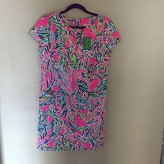 Lilly Pulitzer Layton Shift Palm Reader New with tags. Just have too much in the same print! Price removed. Lilly Pulitzer Dresses Midi