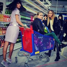 A guide to 2014's fashion friendships on Instagram: Rihanna, Cara Delevingne & Joan Smalls