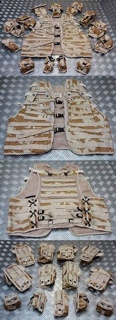 Waist Packs and Bags 181380: Genuine British Military Dpm Desert Camo Assault Vest Molle Tactical 13 Pouches -> BUY IT NOW ONLY: $80.86 on eBay!