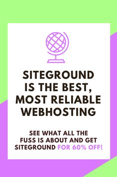 Siteground provides the fastest load times, most reliable web hosting service, and unbeatable value. With unlimited bandwidth, free domain, free daily backups, and free shopping cart included.  Siteground offers simple one-click WordPress install. Perfect for bloggers to use to monetize their blog. Blogging tips - best web hosting