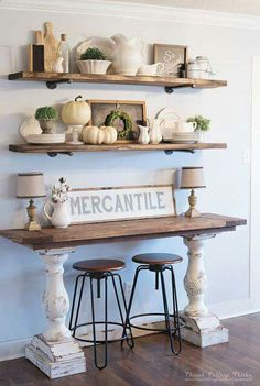 What do you think about this little buffet table?  via: http://chapelcottagechicks.blogspot.com/2015/11/chippy-farmhouse-style-buffet.html